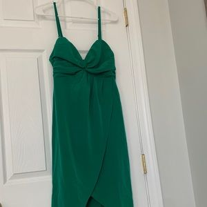 H&M Green Midi Dress with Removable Straps